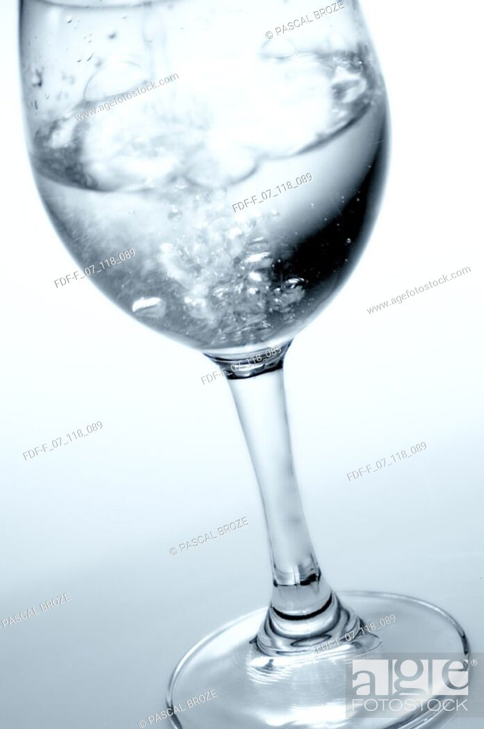 Stock Photo: Close-up of a glass of water.