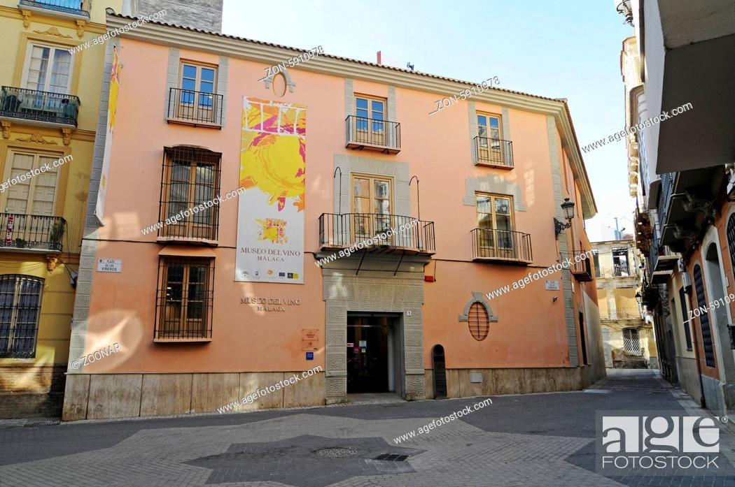 Museo Del Vino.Museo Del Vino Wine Museum Malaga Andalusia Spain Europe Museo