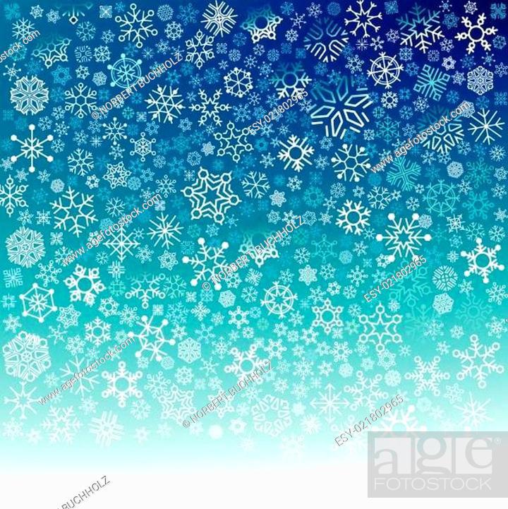 Stock Vector: Schneefall.