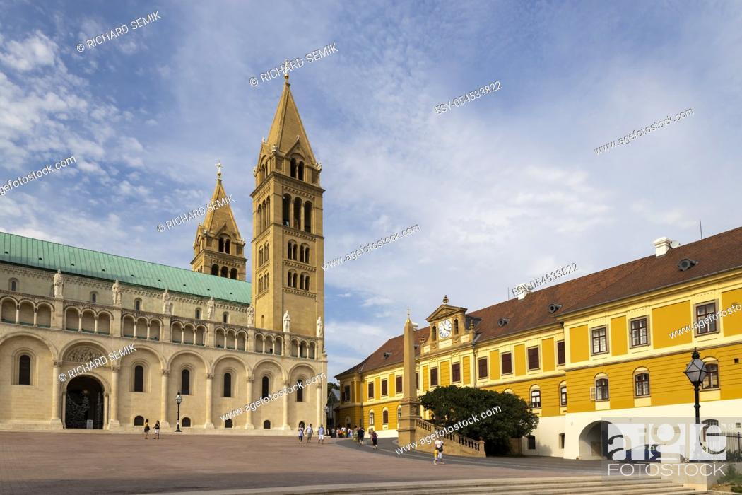 Stock Photo: Pecs Cathedral, Baranya County, Hungary.