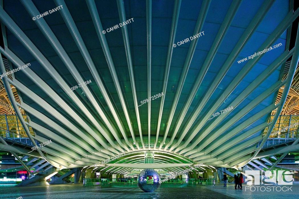 Stock Photo: View of Oriente Train Station, Olivais, Lisbon, Portugal.