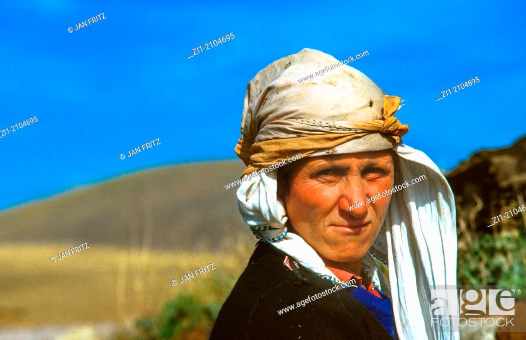 Stock Photo: portrait of woman in east Turkey.