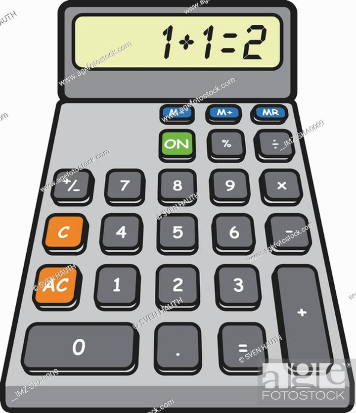 Stock Photo: A calculator drawn on a white background.