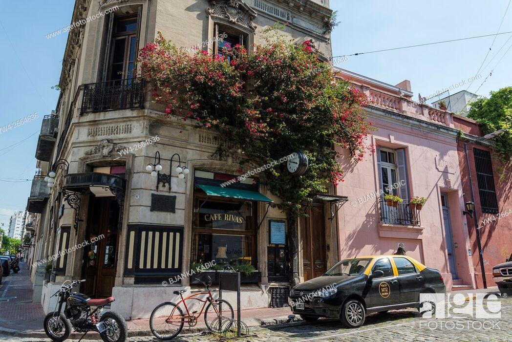 Stock Photo: Cafe Rivas, San Telmo, Buenos Aires, Argentina.