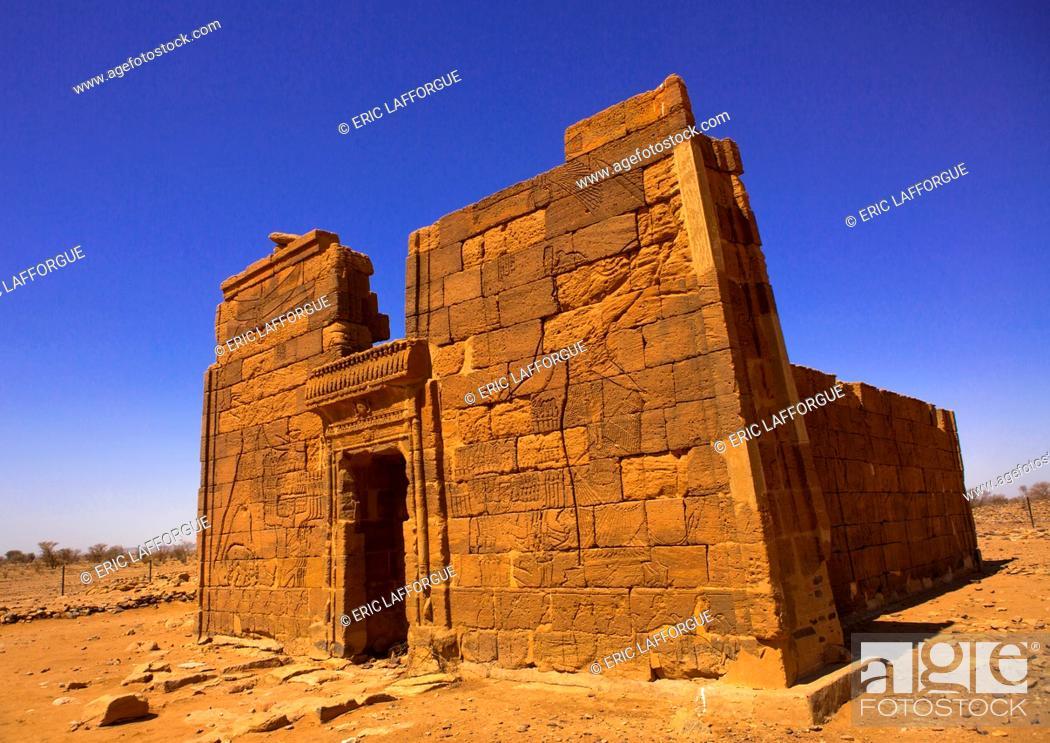 Stock Photo: Lion Temple Of Apedemak, Musawarat, Naga Site, Sudan.
