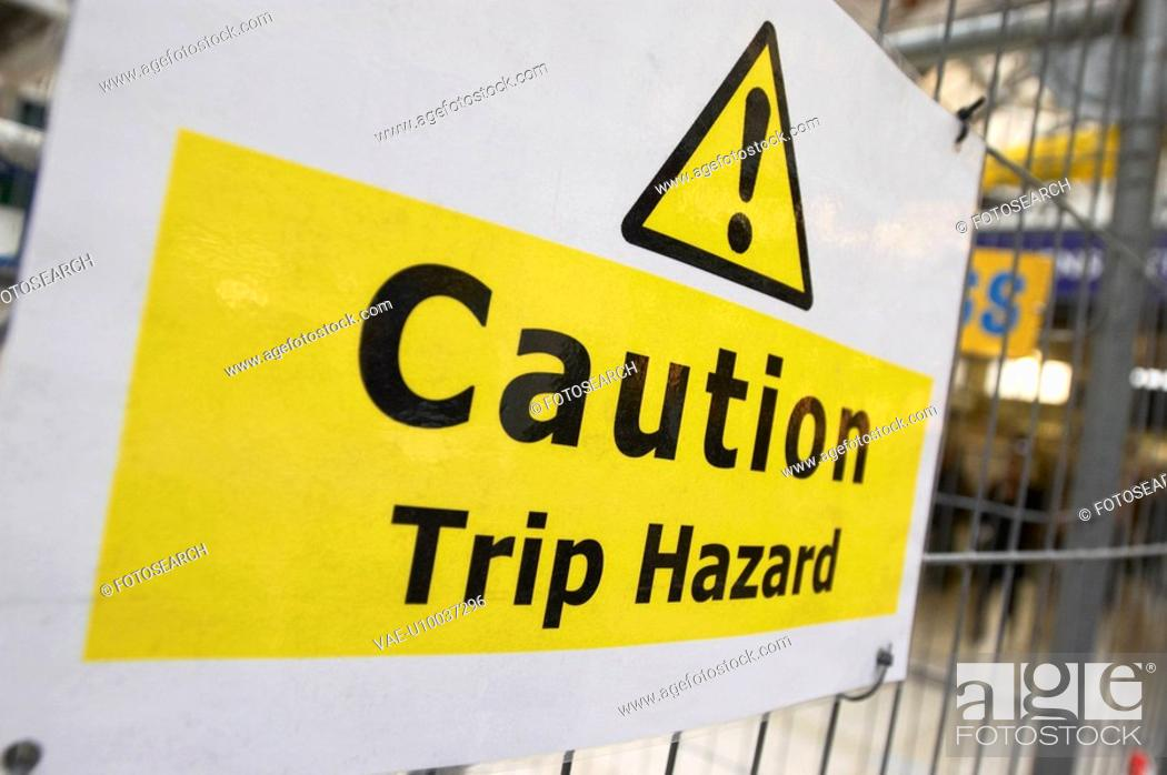 Stock Photo: Site safety regulation sign.