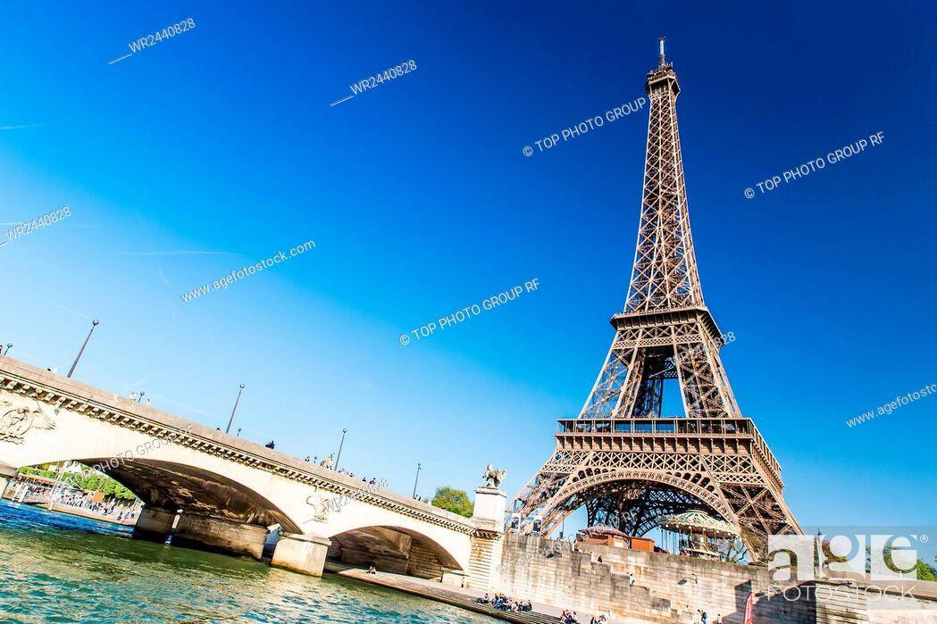 Imagen: France;Paris;Seine;pleasure-boat.
