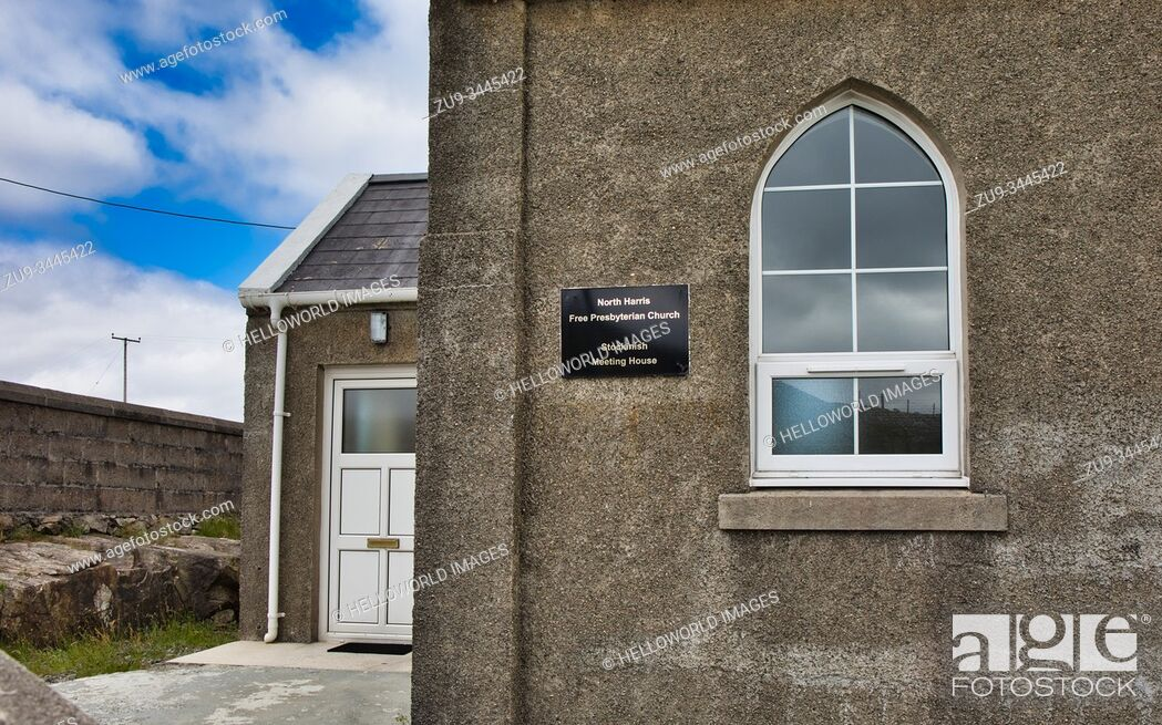 Photo de stock: North Harris Free Presbyterian Church Meeting House, Stockinish, Isle of Harris, Outer Hebrides, Scotland.