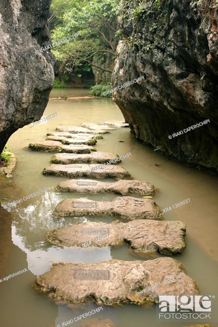 Stock Photo: Tianxing Bridge Scenic Area, Huangguoshu, Guizhou, China.