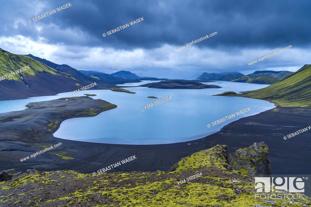 Stock Photo: Langisjór, Highlands of Iceland, Southern Region, Iceland.