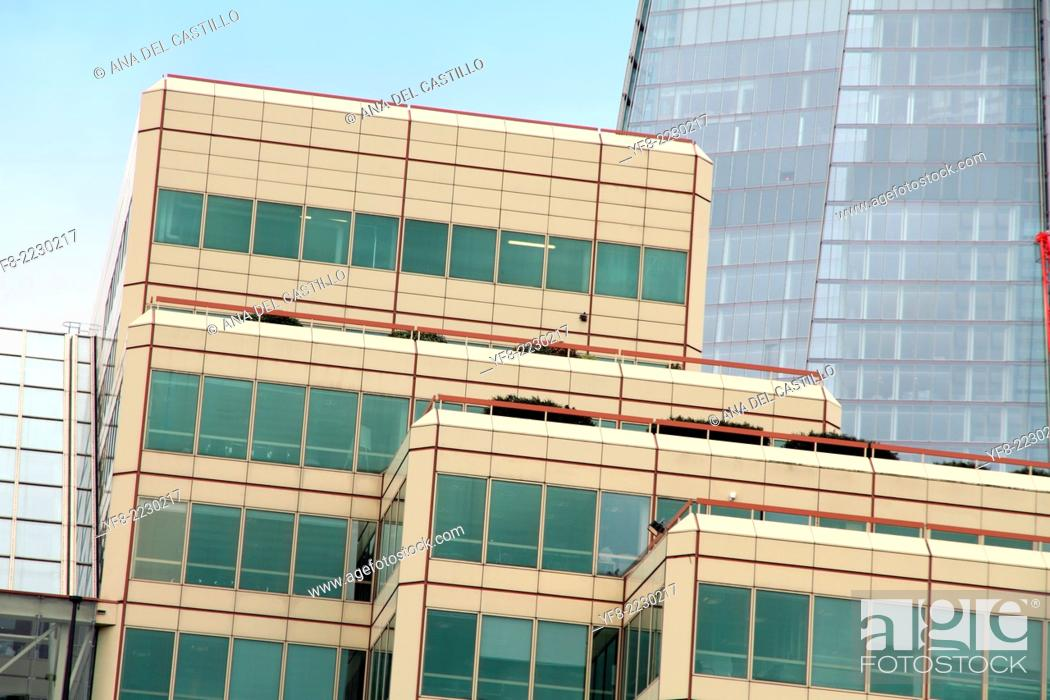 Stock Photo: The oxo tower wharf building Banks of the Thames river in London UK.