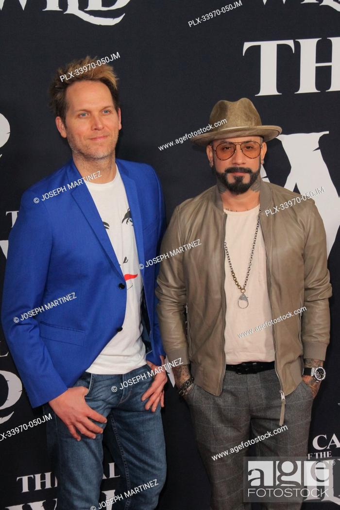 "Stock Photo: AJ McLean, Mark Adler at """"The Call Of The Wild"""" World Premiere held at El Capitan Theatre in Los Angeles, CA, February 13, 2020."
