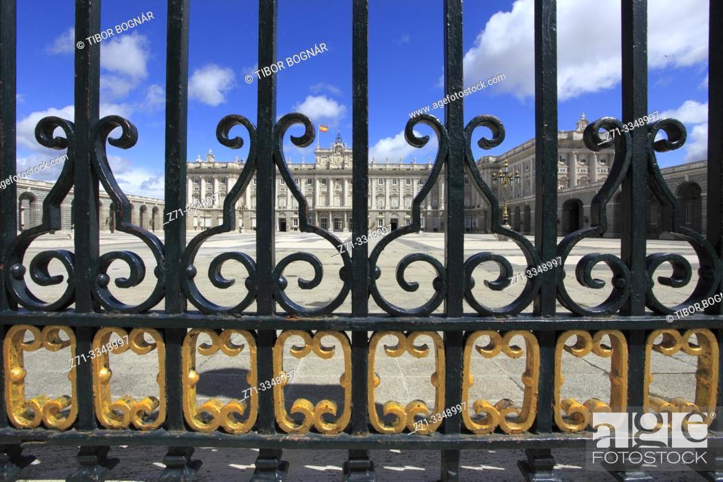 Stock Photo: Spain, Madrid, Royal Palace.