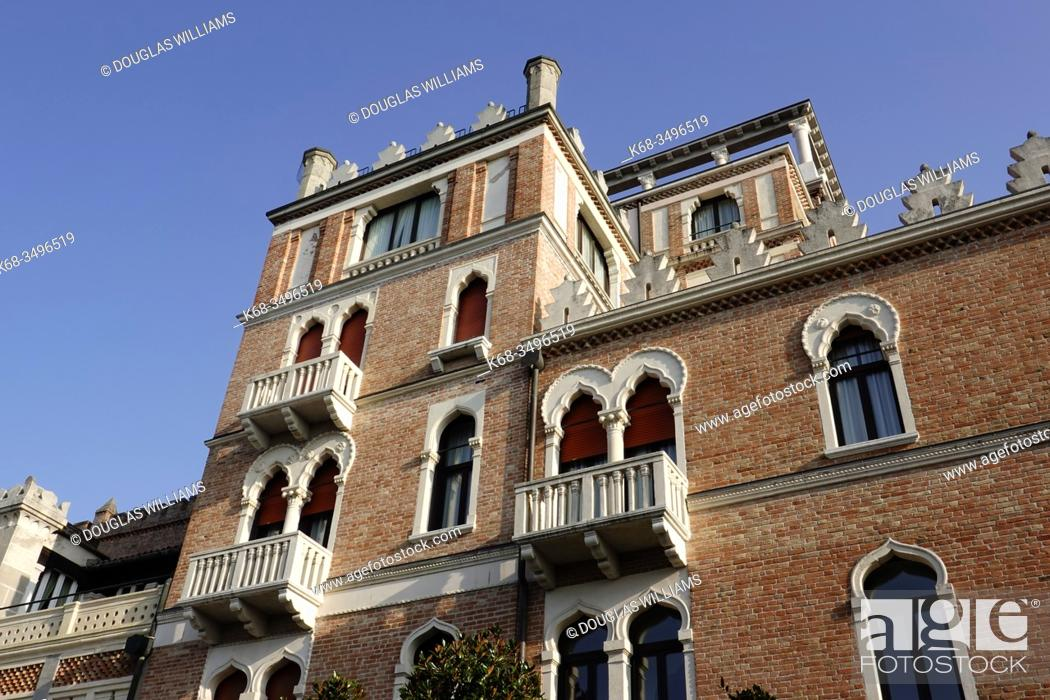 Stock Photo: Hotel Excelsior on The Lido, Venice, Italy.