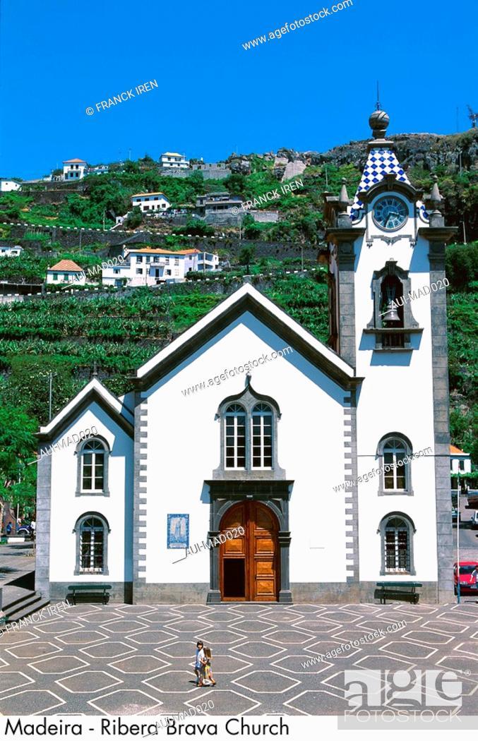 Stock Photo: Portugal - Madeira - Ribera Brava Church.