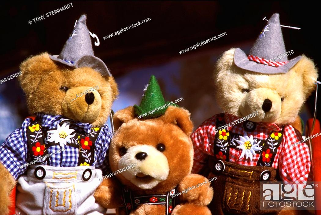 Stock Photo: Germany - Bavaria - Bavarian teddy bear.