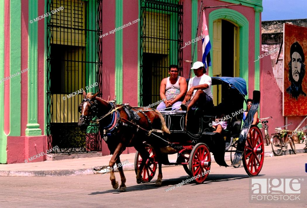 Stock Photo: Cuba - Cardenas - Carriage.