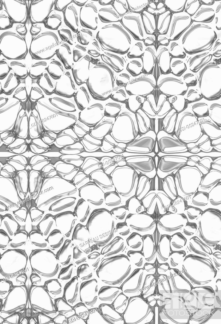 Stock Photo: Monochromatic water droplets design.