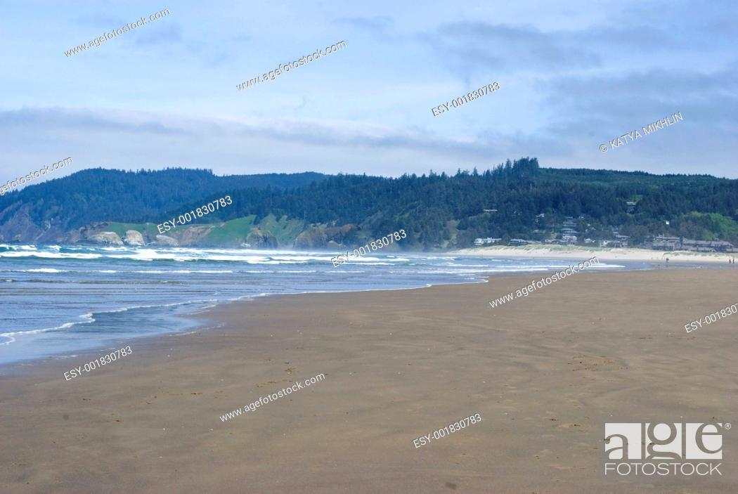 Stock Photo: beach in the pacific northwest.