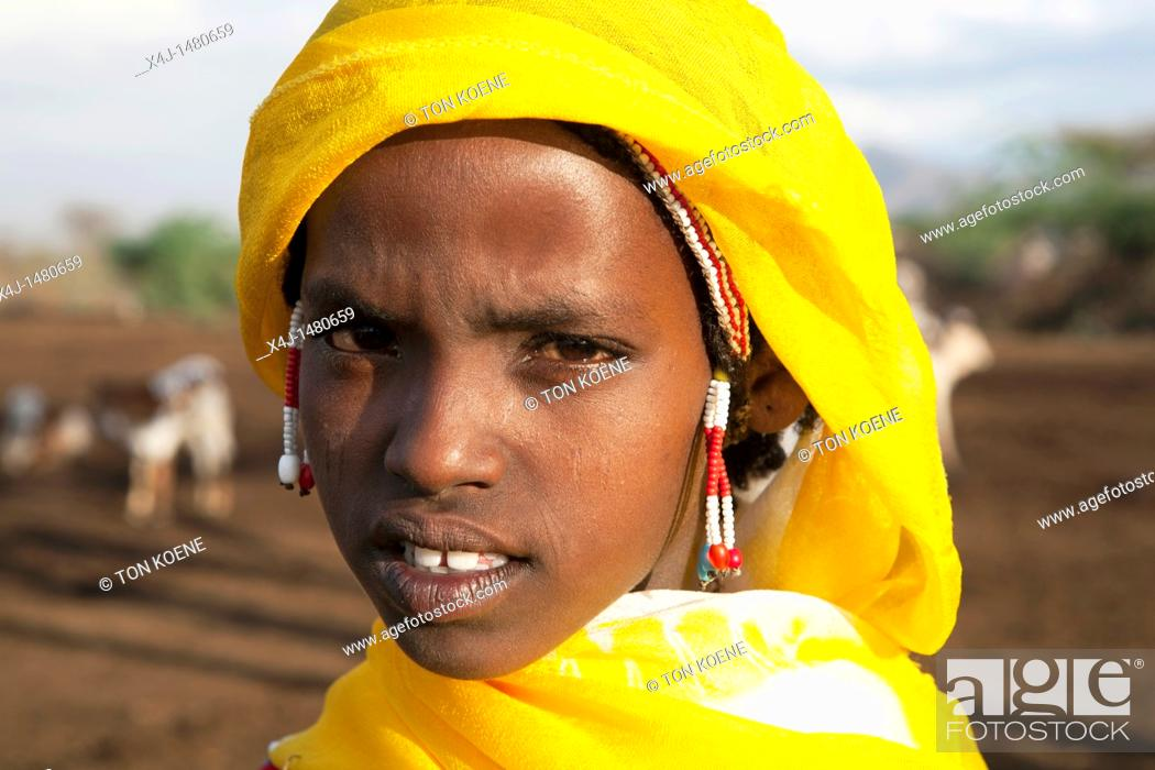 Stock Photo: Halima is an ethiopian girl living in Ethiopia.
