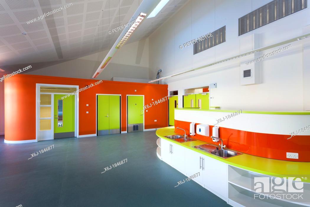 Stock Photo: Primary school classroom unoccupied Newlands Primary School Southampton.