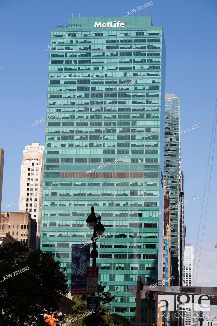 Stock Photo: metlife tower, skyscraper, midtown, 6th avenue, avenue of Americas, manhattan, new york, usa, america.