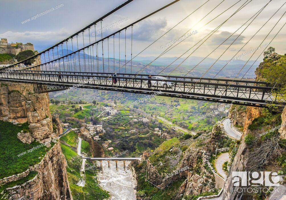 Imagen: Algeria, Constantine City, Constantine Bridge, Sidi M'Cid.