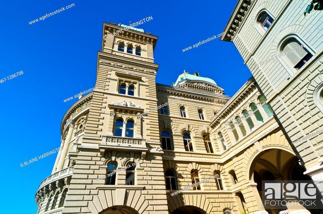 Stock Photo: Parliament Building Federal Palace of Switzerland, Bern, Canton Bern, Switzerland.