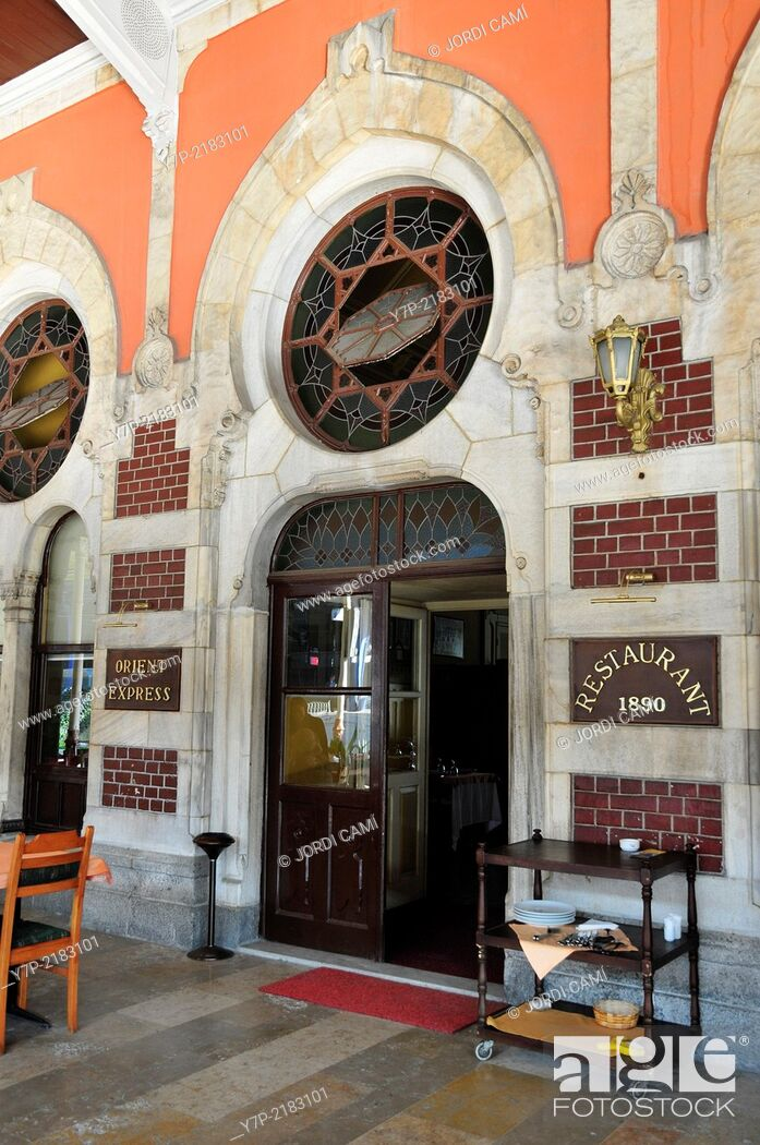 Stock Photo: Orient Express Bar-Restaurant at Sirkeci Railway Station, the Orient Express train ended its journey here. Istanbul .Turkey.