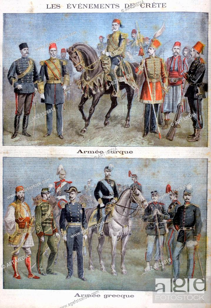 Uniforms of the Greek and Turkish armies, 1897  The Greco