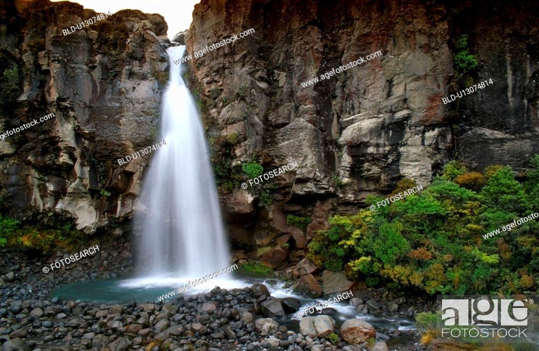 Stock Photo: Beautiful waterfall.