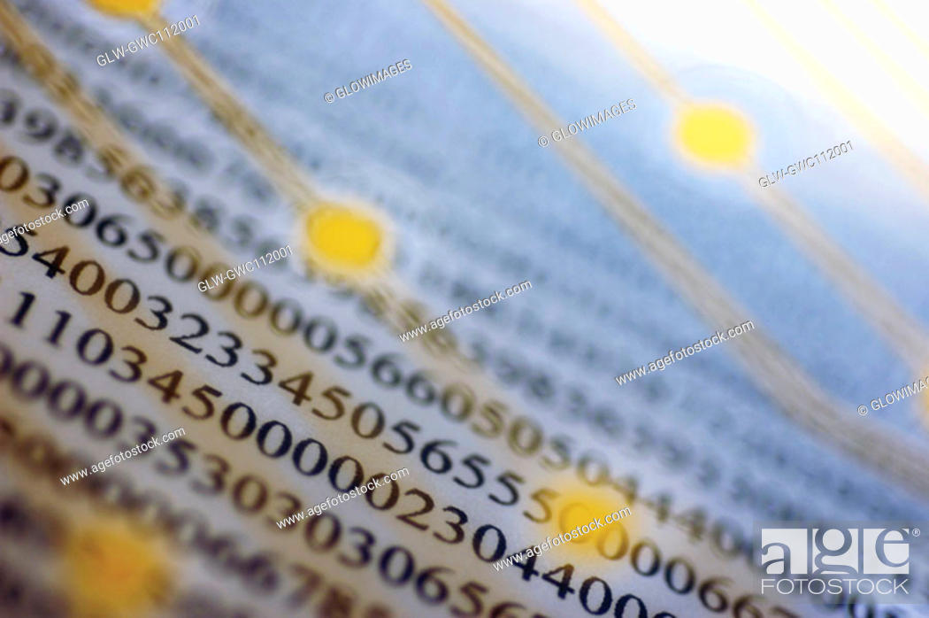 Stock Photo: Close-up of numbers on a financial page.