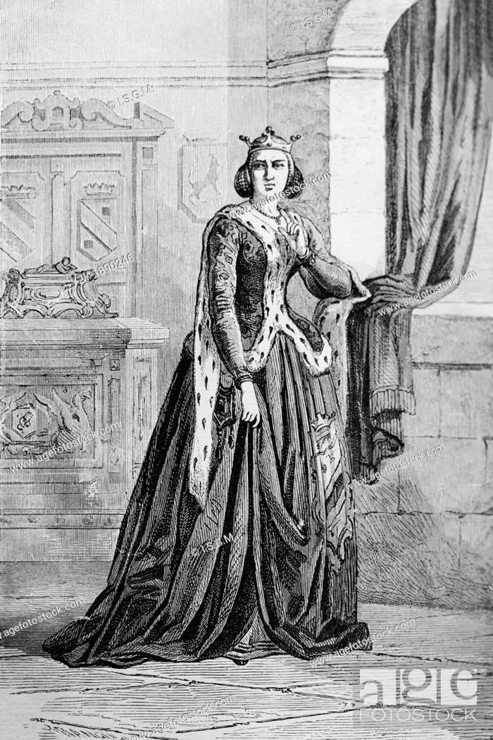 Margaret of York, by Branculi 1863 From 'the mysteries of