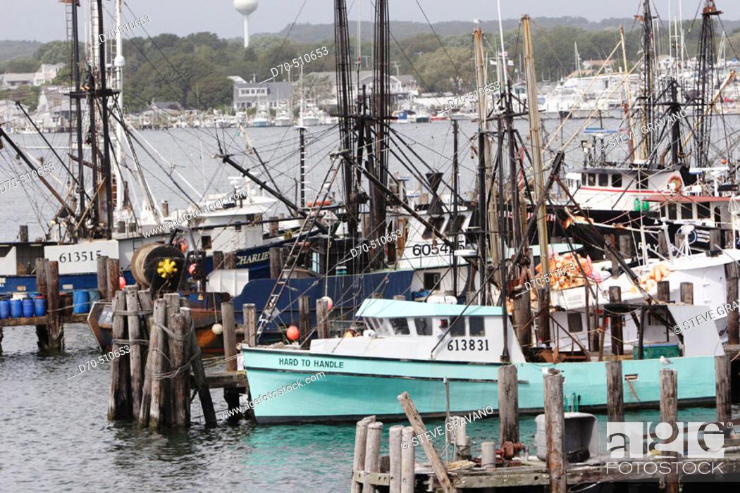Photo de stock: Fishing boats, Port Judith, Rhode Island, USA.