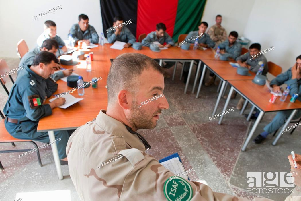 Stock Photo: Police training centre in Kunduz, Afghanisan.