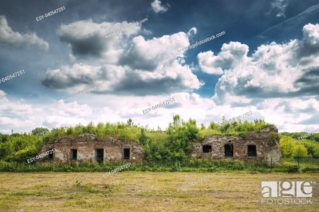 Stock Photo: Brest, Belarus. Ruins Of The Bernardine Monastery In Brest In Sunny Summer Day.
