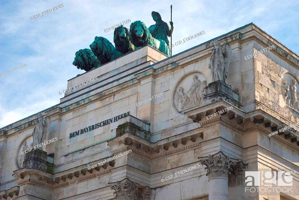 Stock Photo: Siegestor or Victory Gate.