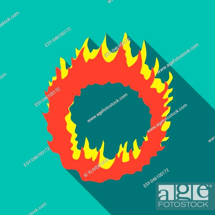 Stock Vector: icon. Flat illustration of vector icon for web isolated on turquoise background.