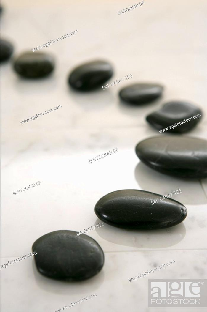 Stock Photo: Stone lying in a row.