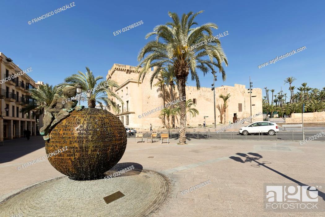 Photo de stock: Elche, Spain: March 30, 2017: Altamira Palace in the city of Elche, Alicante province. Valencian Community, Spain.