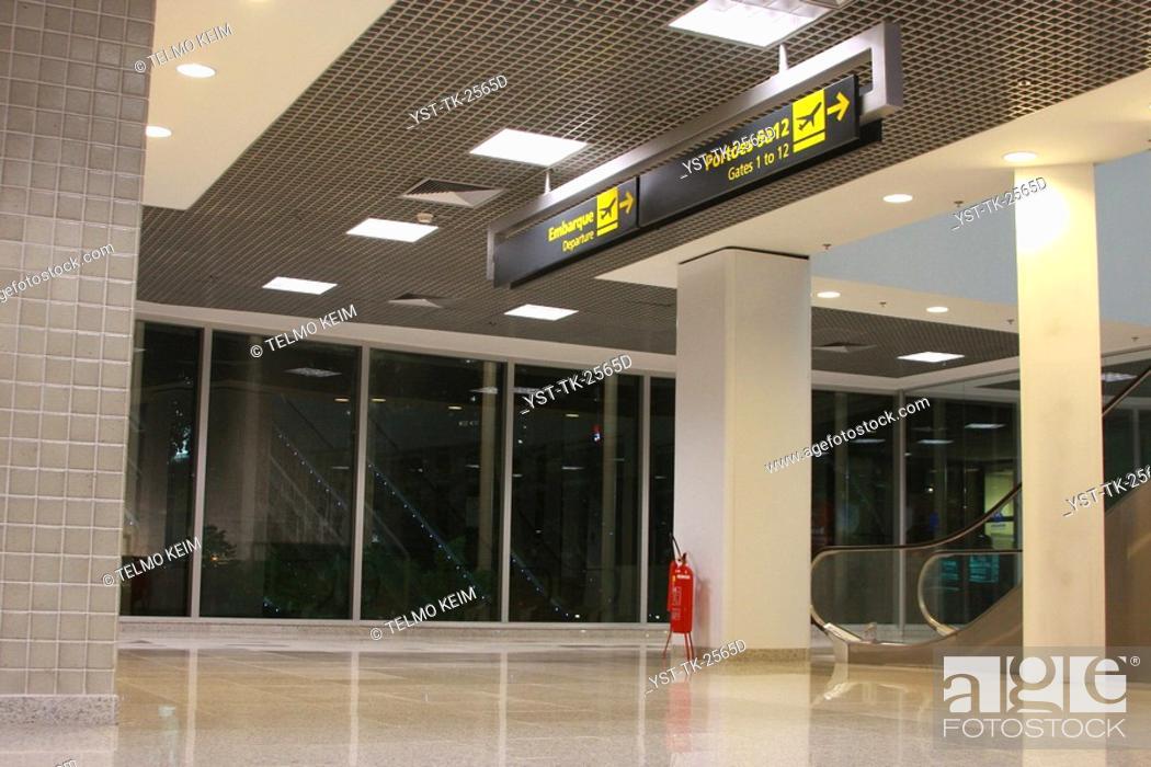 Entrance Airport Rio De Janeiro Brazil Stock Photo Picture And