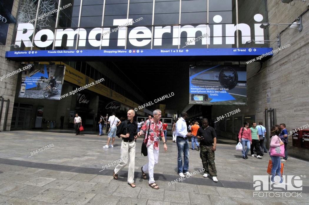 Stock Photo: Roma Termini, railway station. Rome, Italy.