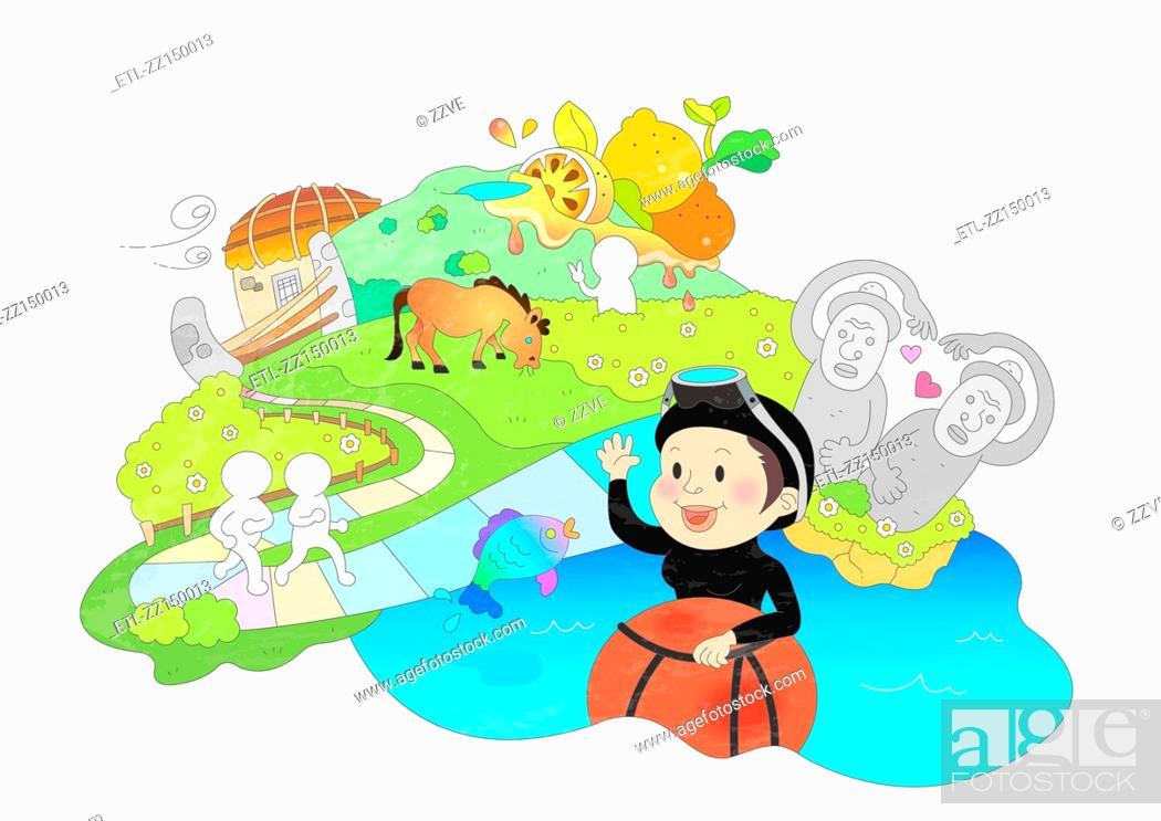 Stock Photo: Attractions of Jeju island.