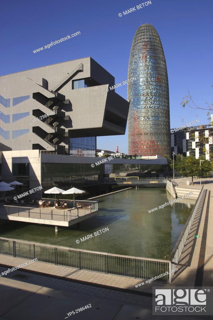 Stock Photo: Torre Agbar, Barcelona, Spain.