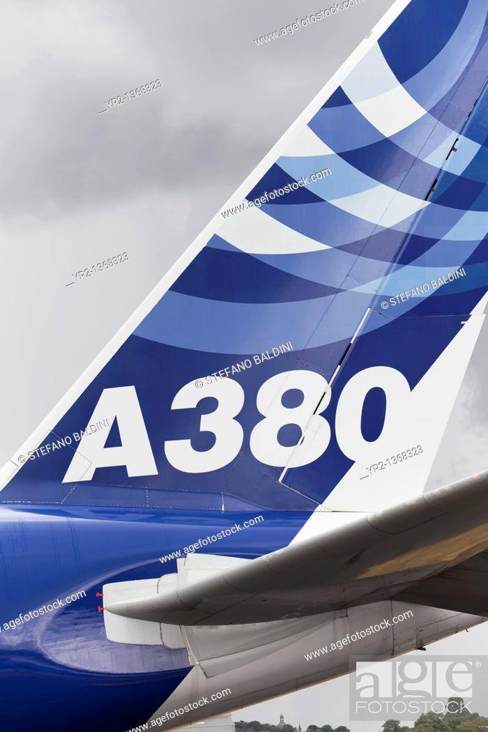 Stock Photo: A380 airbus.