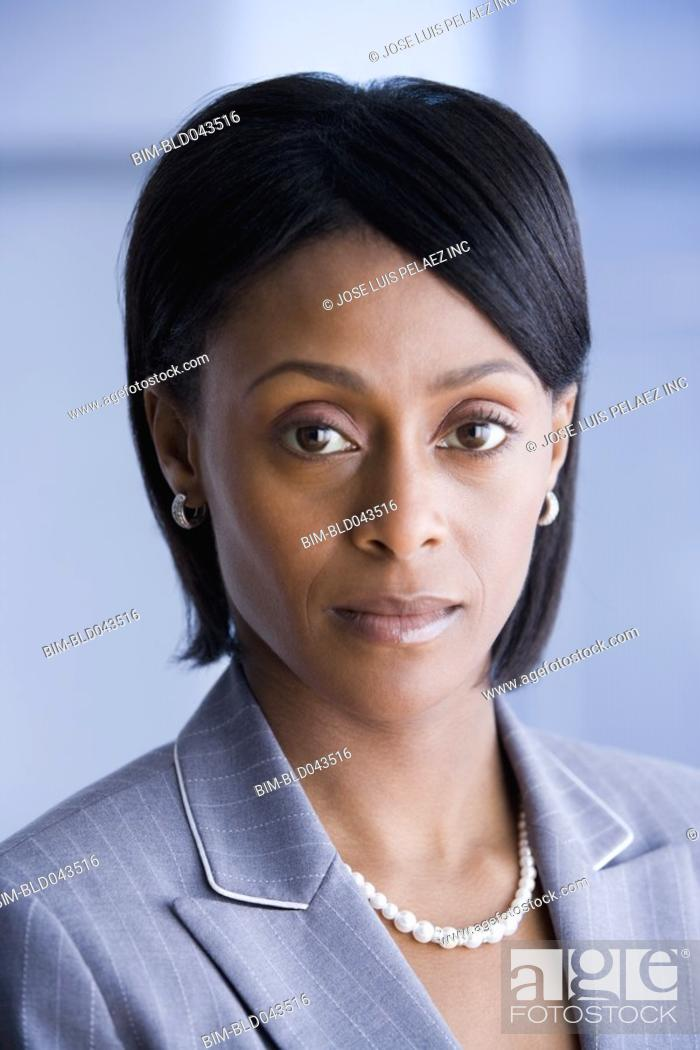 Stock Photo: Portrait of African American businesswoman.
