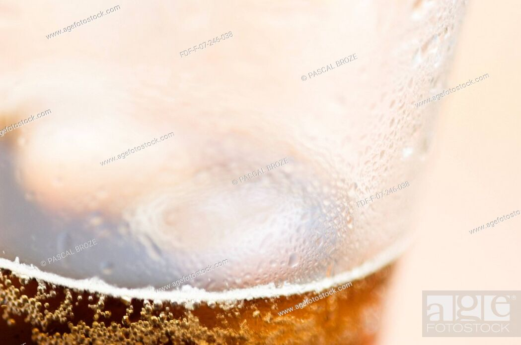 Stock Photo: Close-up of a glass of cola.