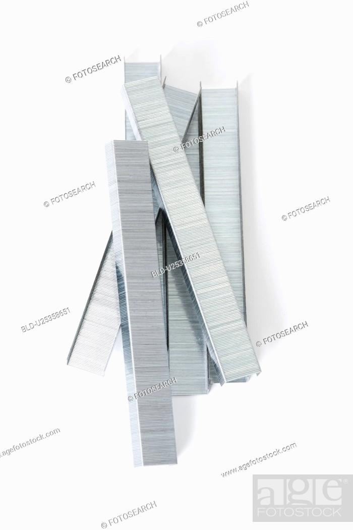 Stock Photo: Staples piled together.