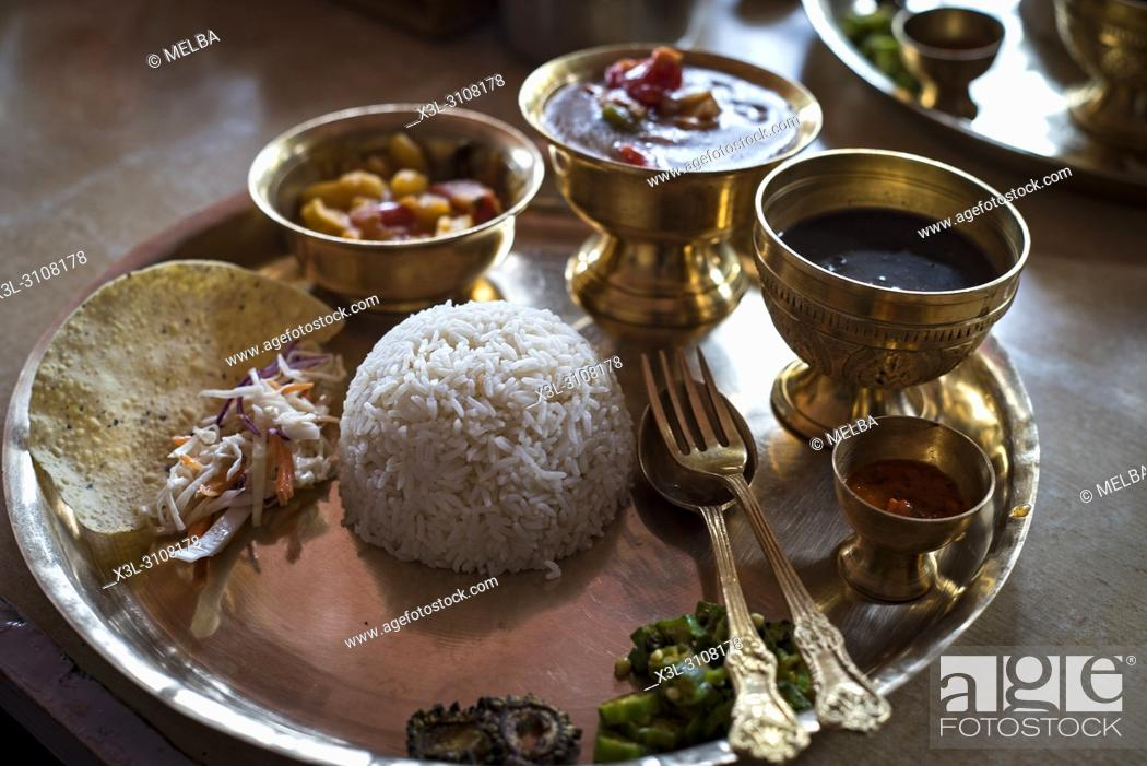 Stock Photo: Traditional food of Nepal.