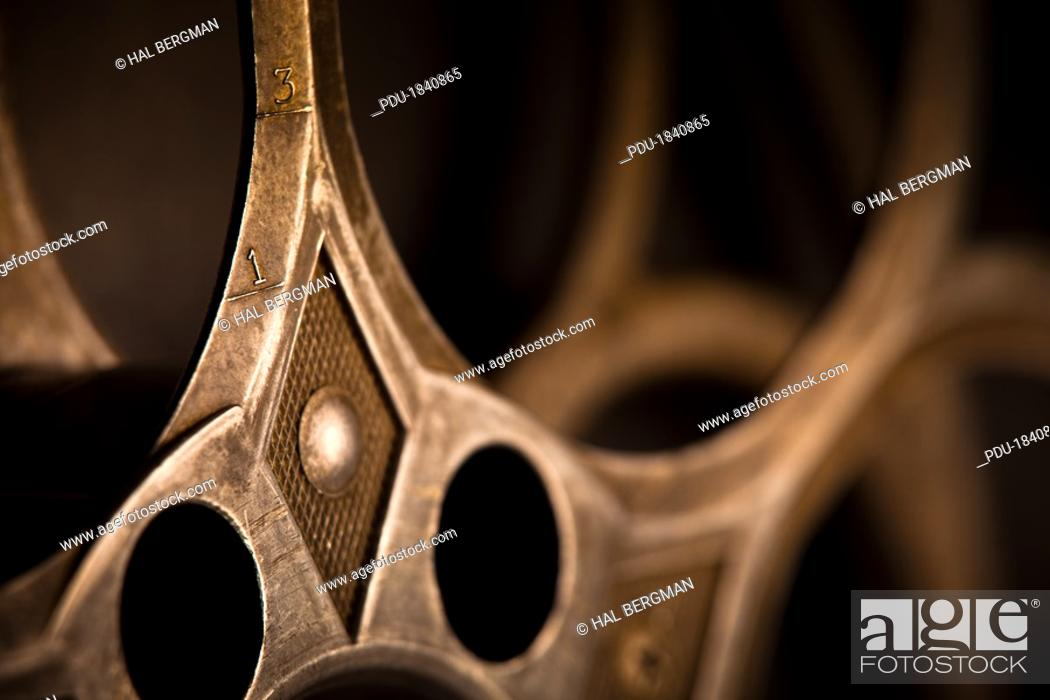 Stock Photo: Detail of Empty Movie Reel.